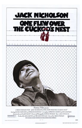 «One Flew Over the Cuckoo's Nest poster» участника United Artists - http://en.wikipedia.org/wiki/Image:One_Flew_Over_the_Cuckoo%27s_Nest_poster.jpg. Под лицензией Добросовестное использование с сайта Википедия - https://ru.wikipedia.org/wiki/%D0%A4%D0%B0%D0%B9%D0%BB:One_Flew_Over_the_Cuckoo%27s_Nest_poster.jpg#/media/File:One_Flew_Over_the_Cuckoo%27s_Nest_poster.jpg